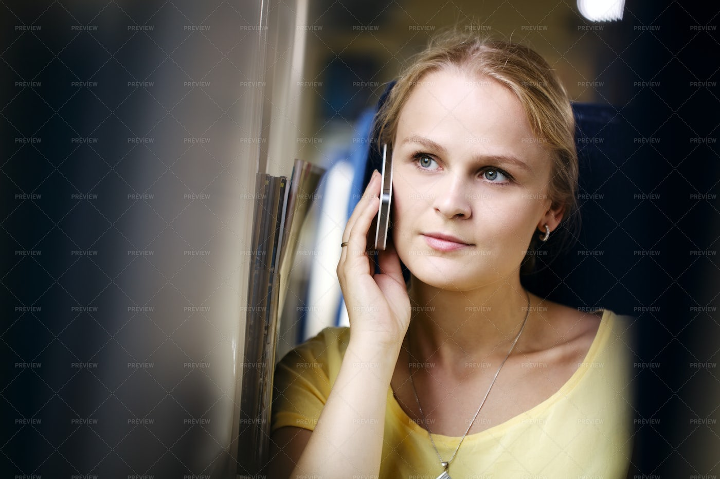 Woman Listening To A Call: Stock Photos