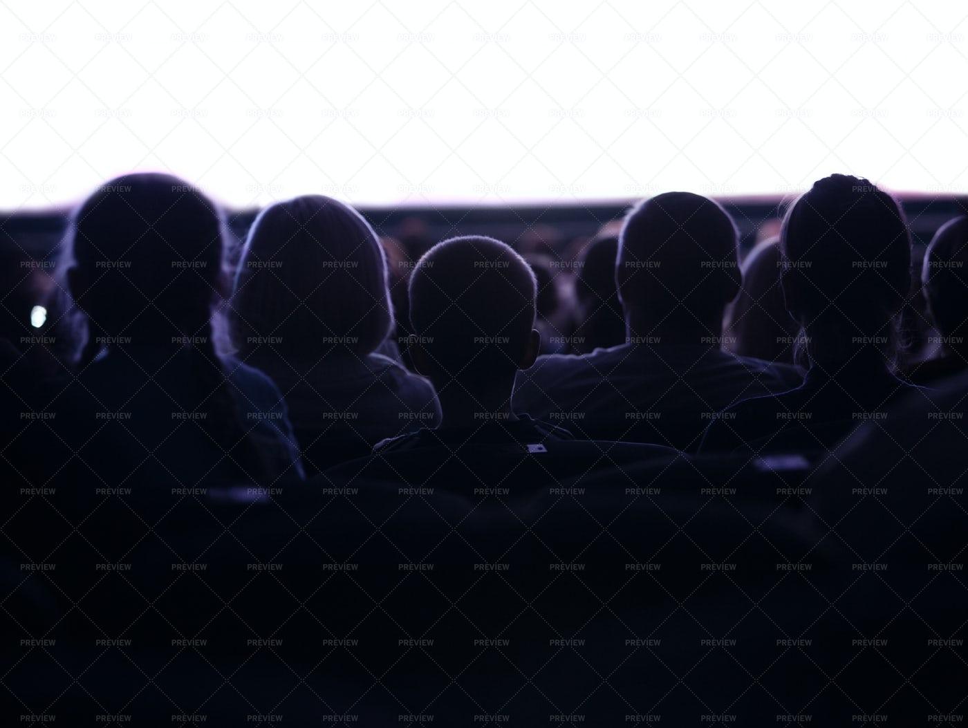 People Watching Cinema: Stock Photos
