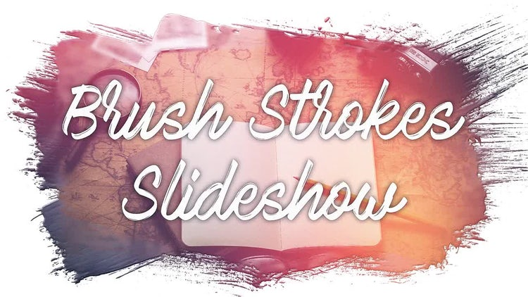 Brush Strokes Slideshow: After Effects Templates