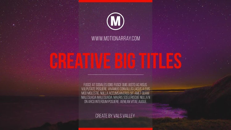 Big Titles and Lower Thirds: Premiere Pro Templates