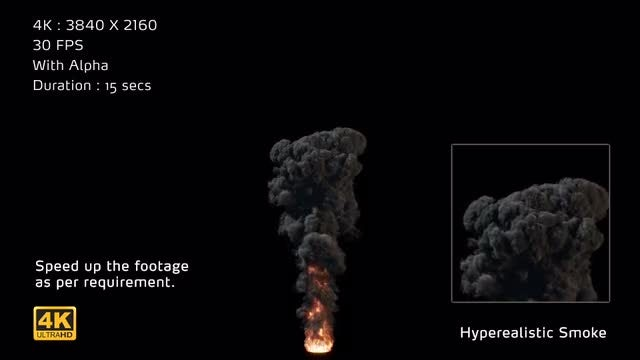 4K Hyperealistic Large Scale Smoke Ver.01: Stock Motion Graphics