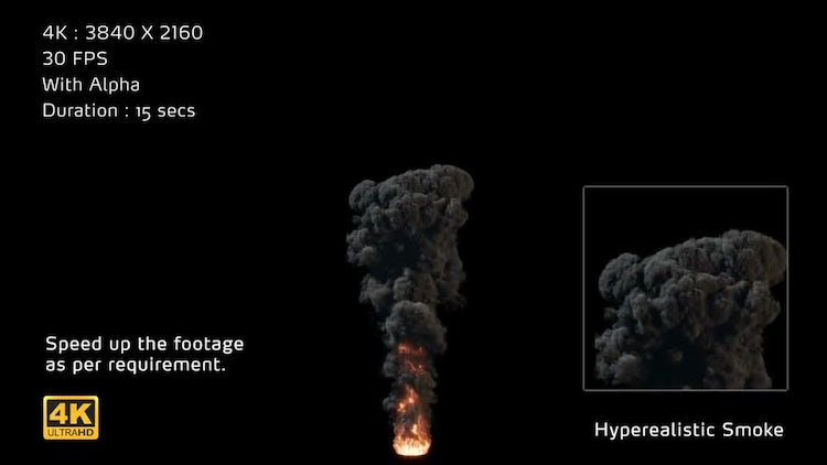 4K Hyperealistic Large Scale Smoke Ver.01: Motion Graphics