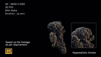 4K Hyperealistic Large Scale Smoke Ver.02: Motion Graphics