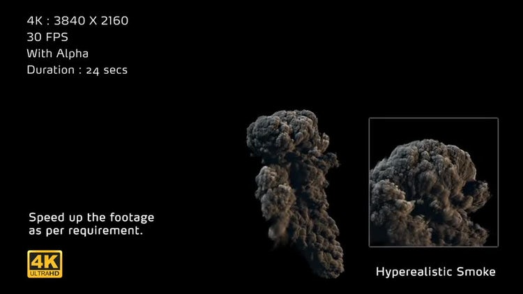 4K Hyperealistic Large Scale Smoke Ver.02: Stock Motion Graphics