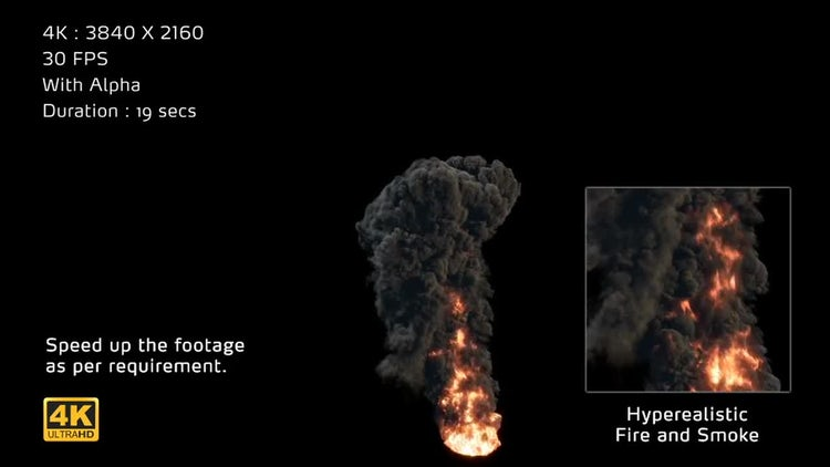 4K Hyperealistic Large Scale Smoke Ver.03: Stock Motion Graphics