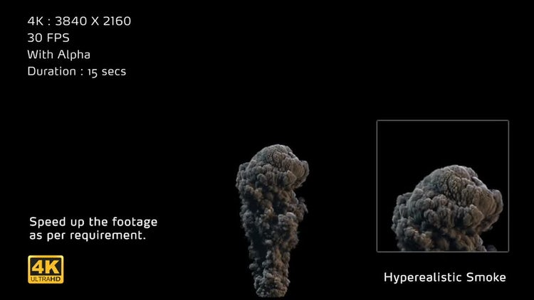 4K Hyperealistic Large Scale Smoke Ver.04: Stock Motion Graphics