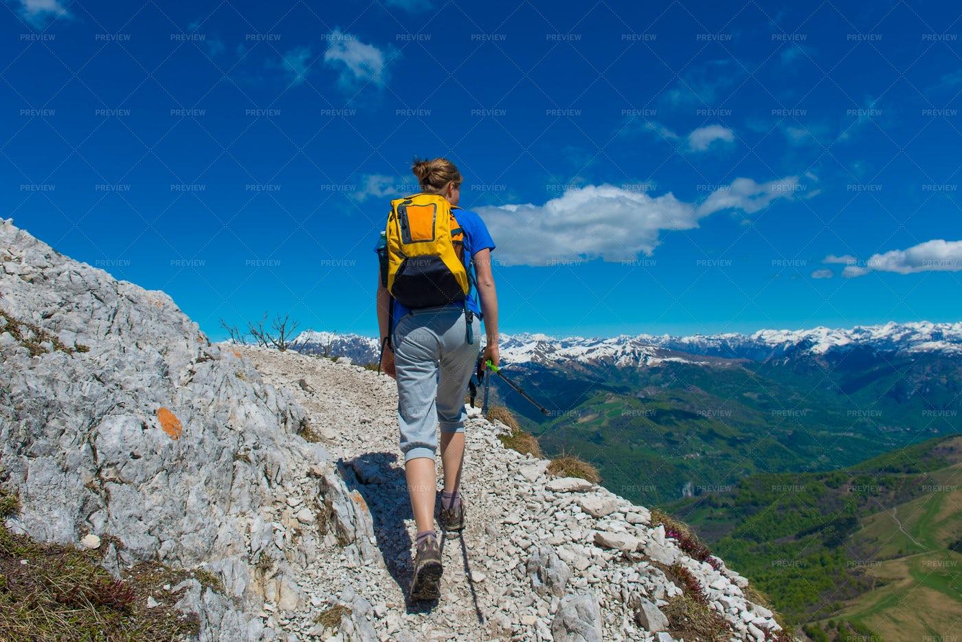 Trekking The Italian Alps: Stock Photos