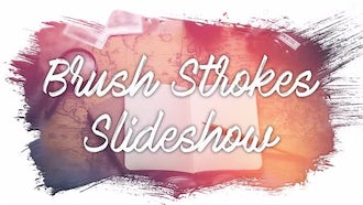 Brush Strokes Slideshow: Premiere Pro Templates