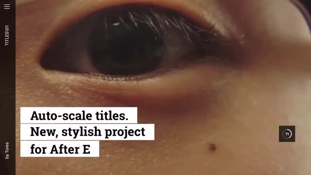 Scaling Title Pack: After Effects Templates