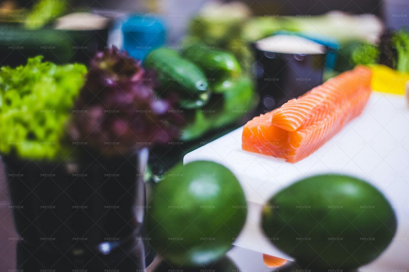 Fresh Sushi Ingredients: Stock Photos
