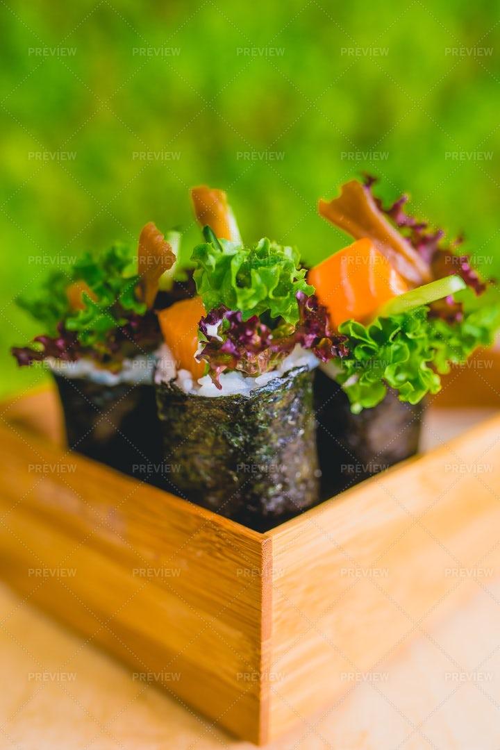 Sushi On A Table: Stock Photos