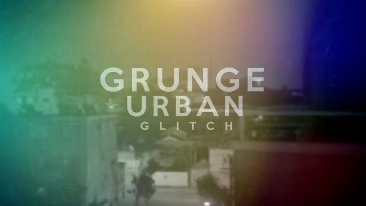 Grunge Urban Glitch: After Effects Templates
