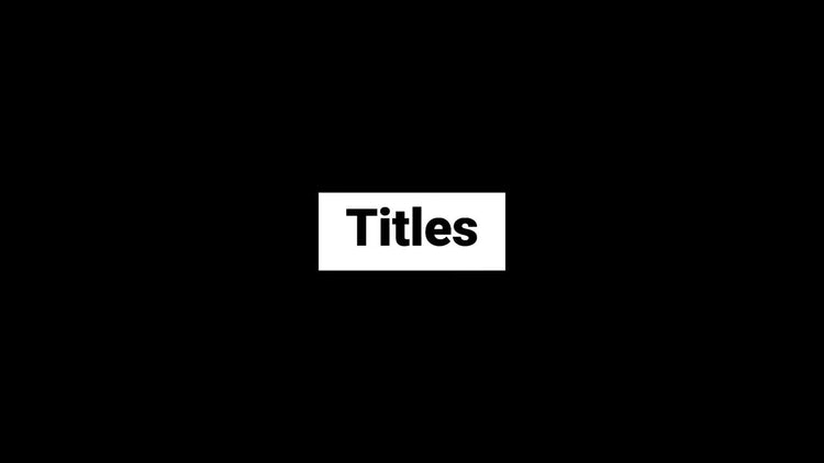 Titles and lower thirds: Motion Graphics Templates