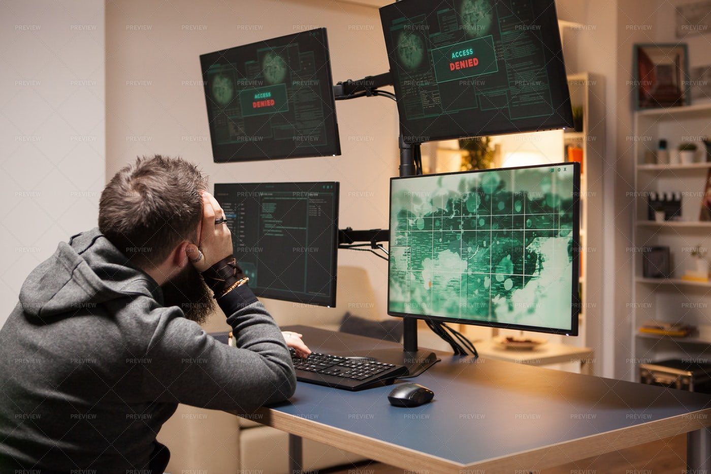 Hacker Having Access Problems: Stock Photos