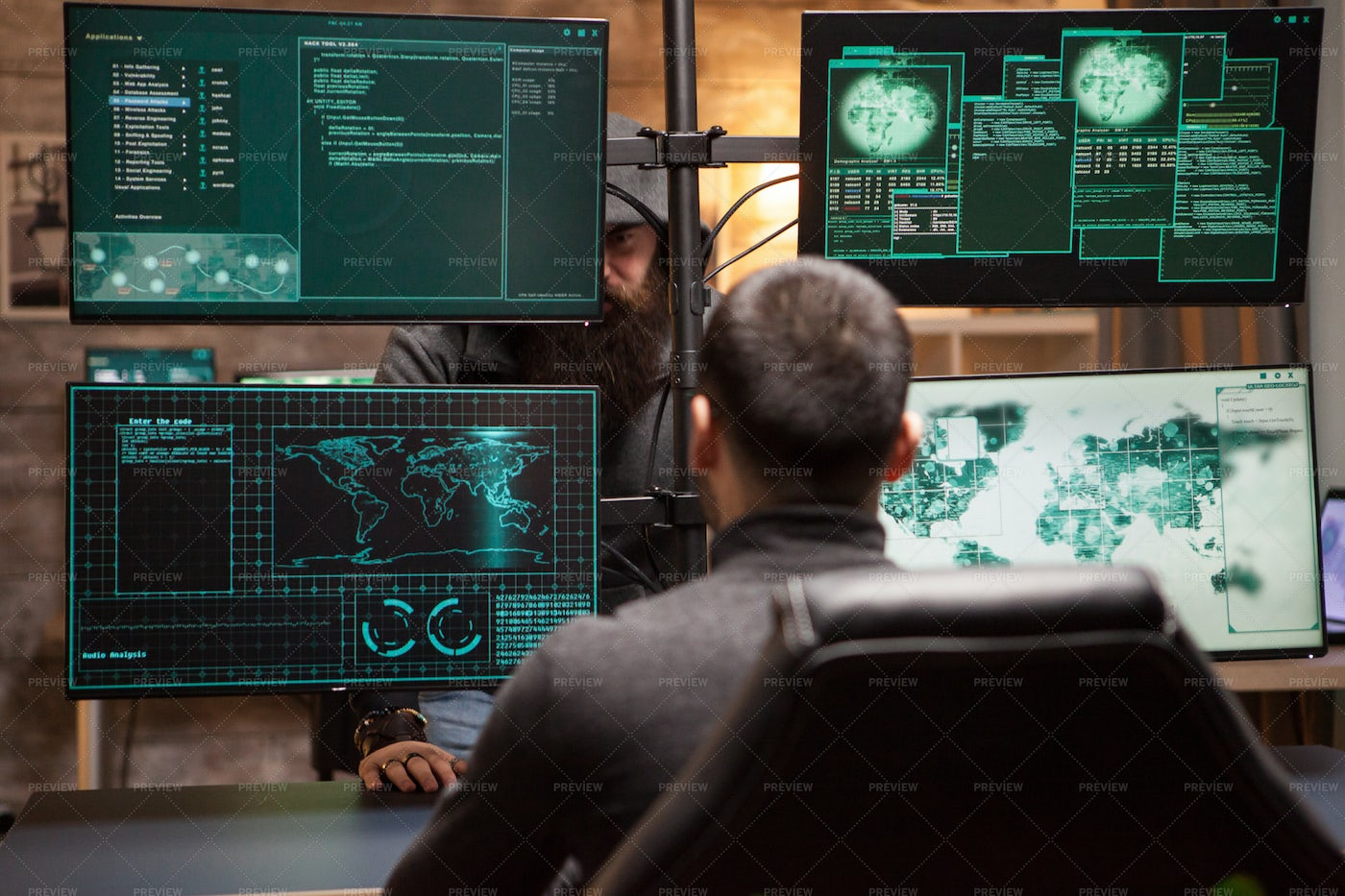 Two Hackers: Stock Photos