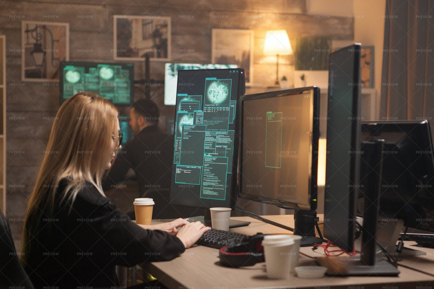 Female Hacker: Stock Photos