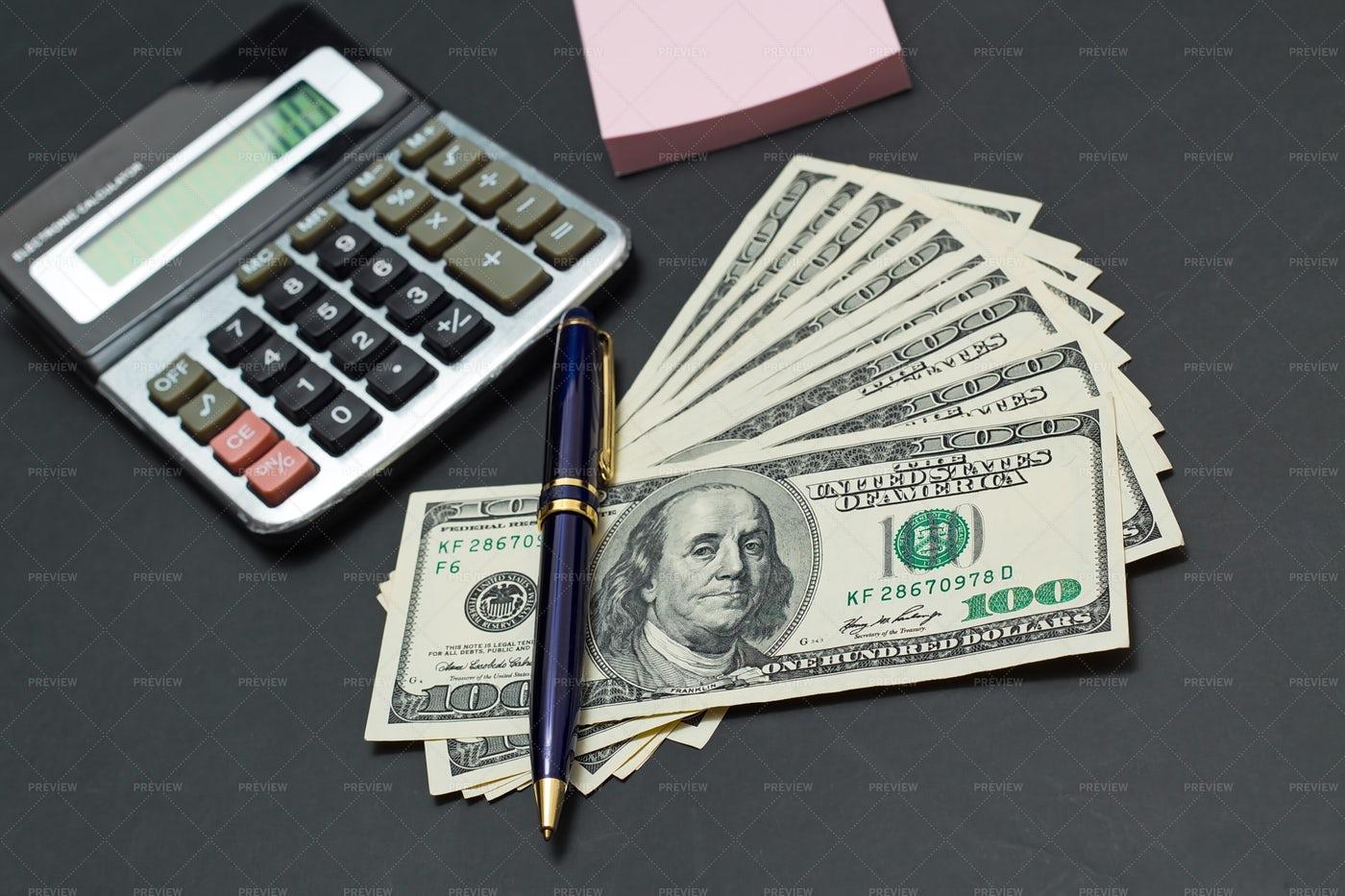 Calculating Money: Stock Photos