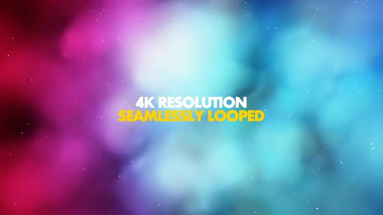 Colorful Magical Clouds: Stock Motion Graphics