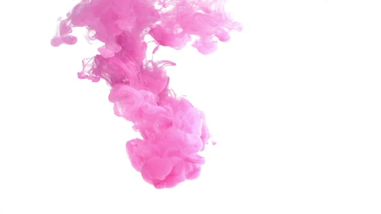 Pink ink in water: Stock Video
