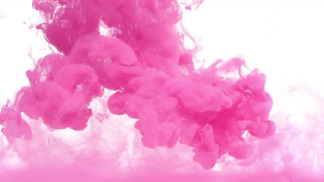 Pink ink in water : Stock Video
