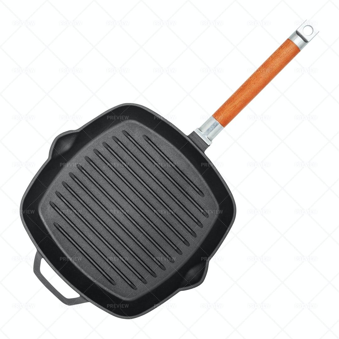 Square Grill Pan: Stock Photos