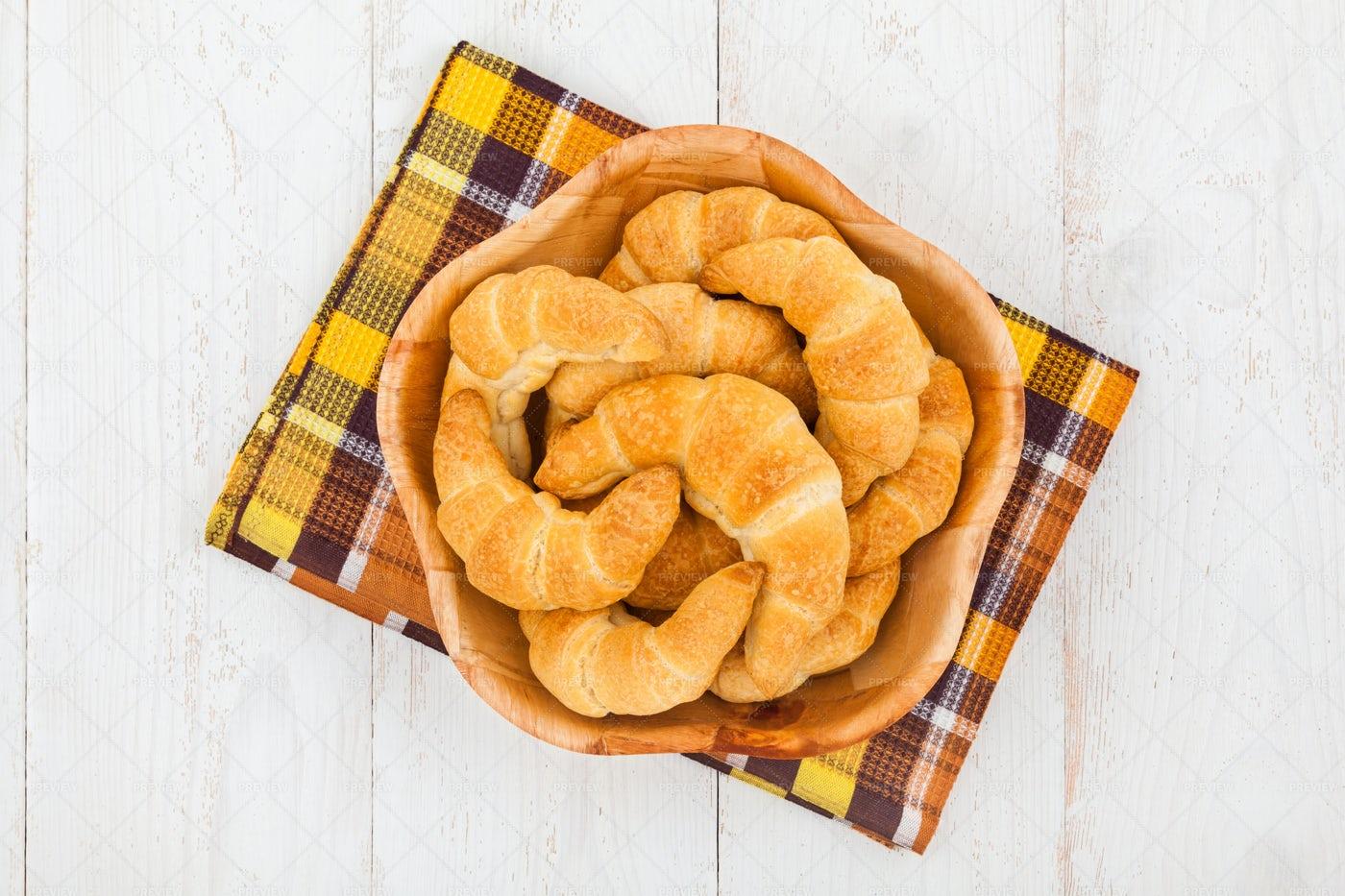 Bowl Of Croissants: Stock Photos