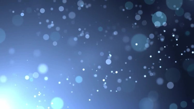 Blue Particles In Light: Motion Graphics