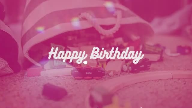 Happy Birthday Opener: Premiere Pro Templates
