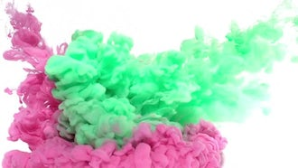 Green And Pink Ink: Stock Video