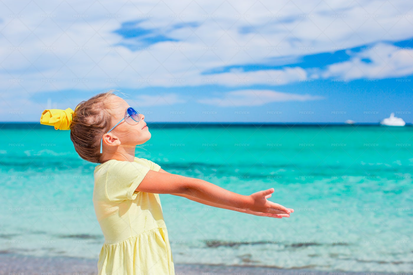 Girl At The Beach: Stock Photos