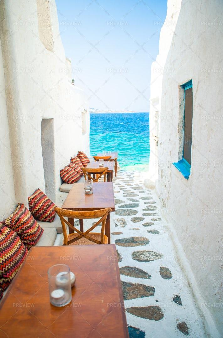 Typical Greek Bar: Stock Photos