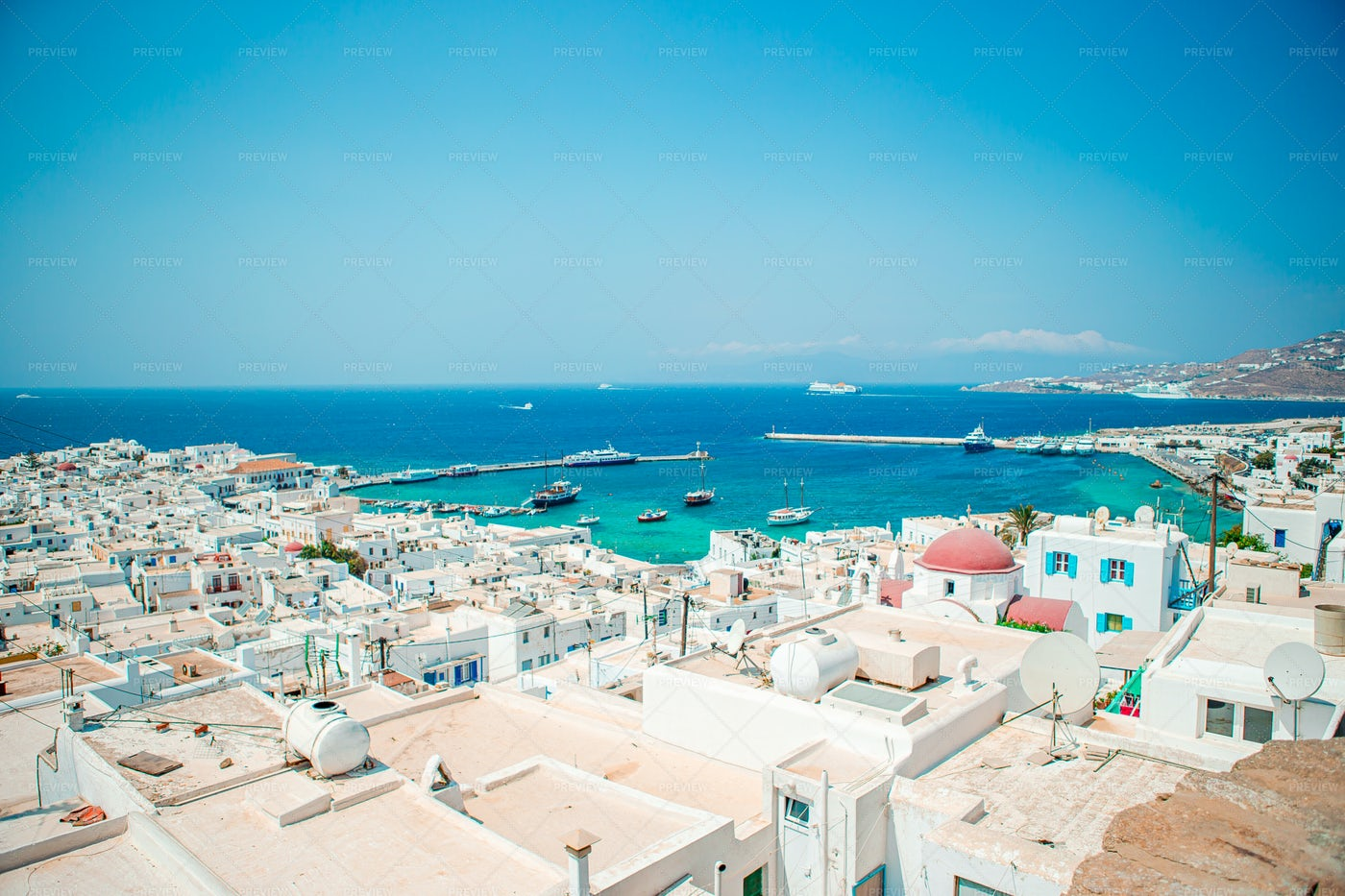 Greek Village Views: Stock Photos