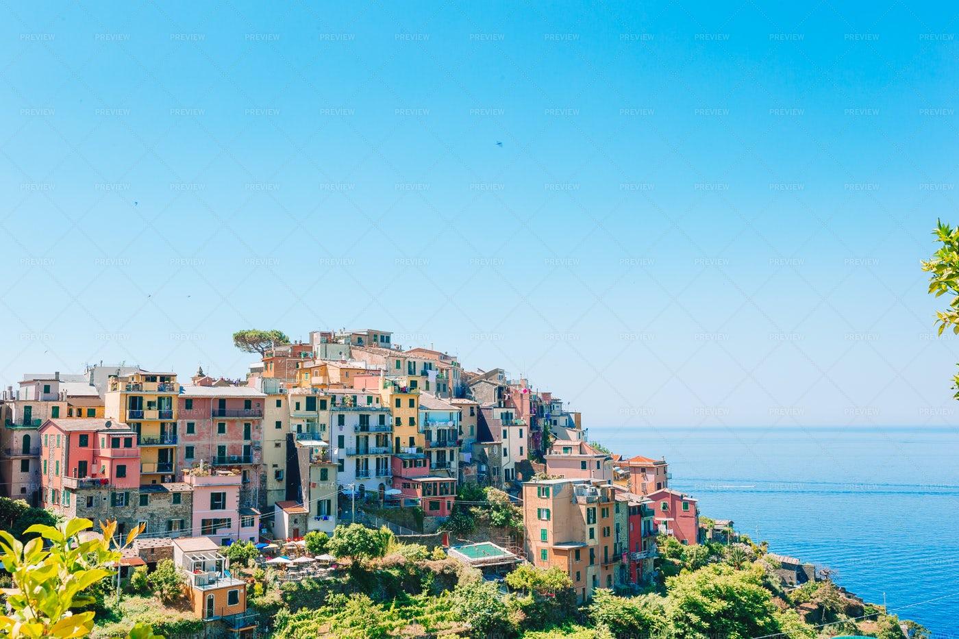 A Village In Cinque Terre: Stock Photos