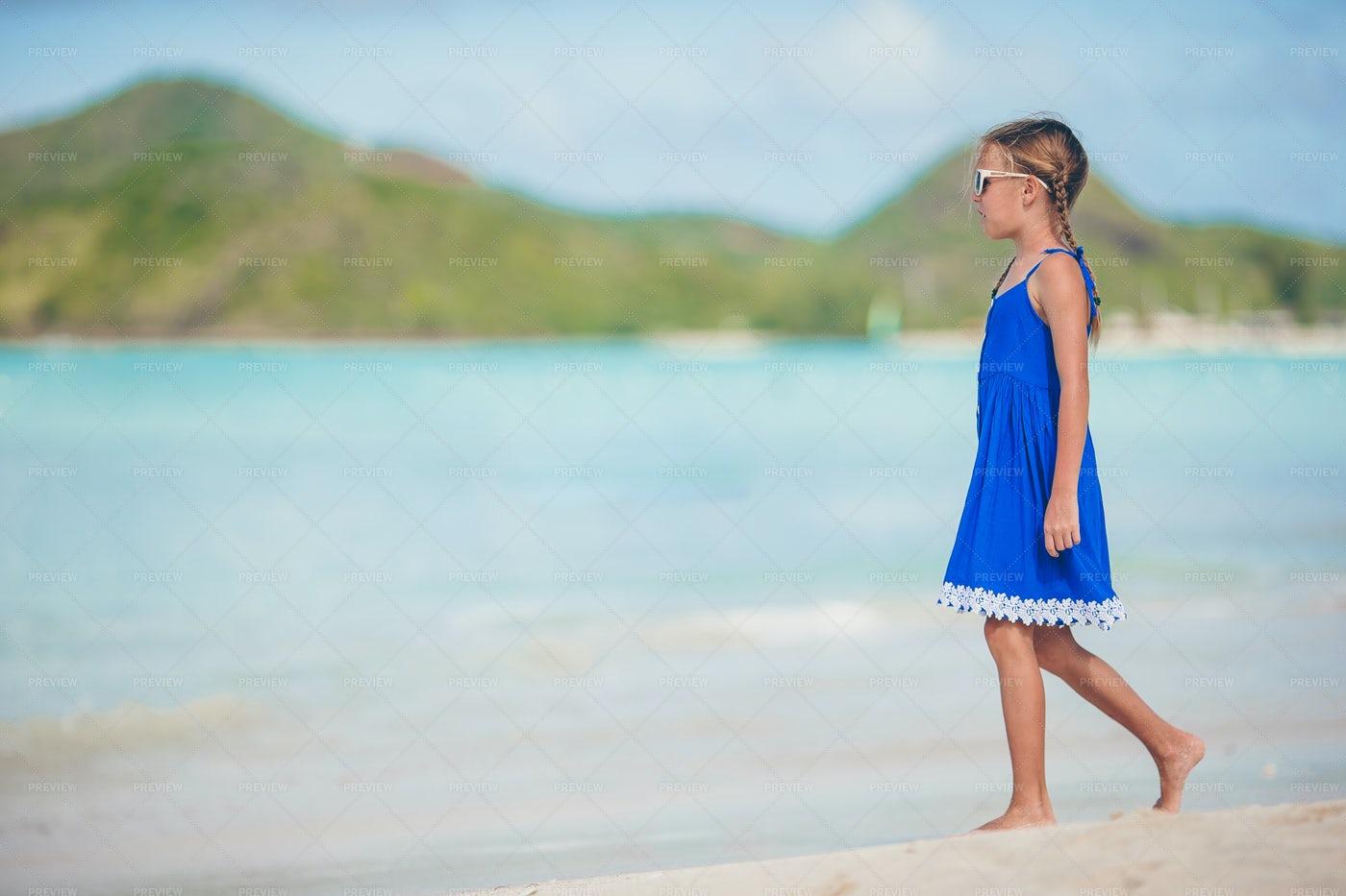 Portrait Of Girl On The Beach: Stock Photos
