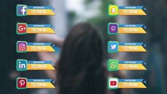 Geometric Social Links: After Effects Templates