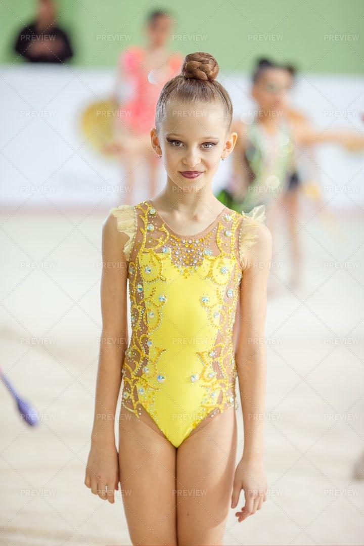 Portrait Of A Gymnast Girl: Stock Photos