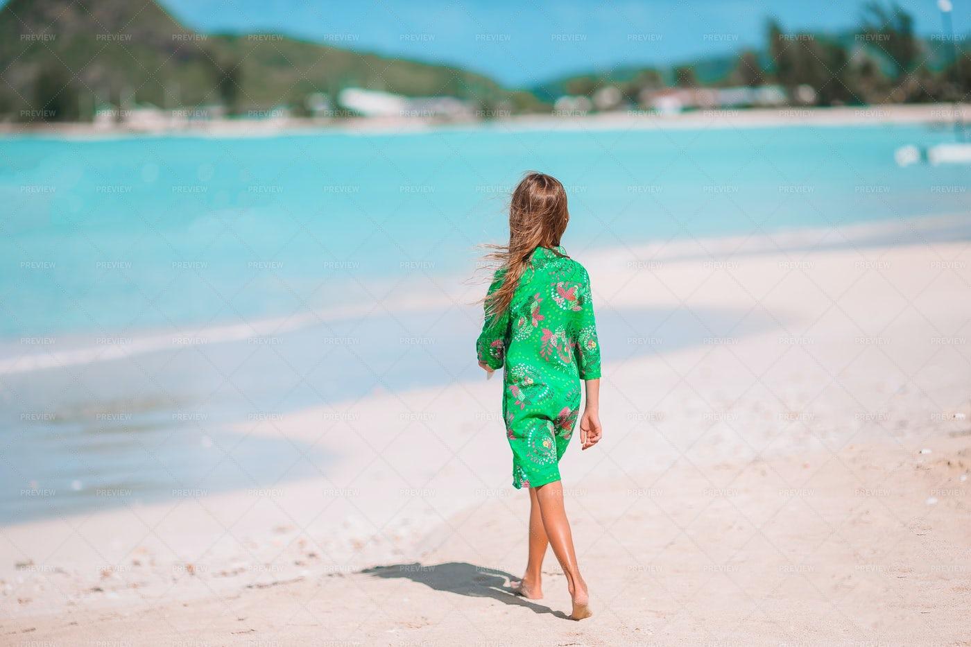 Girl Watching The Sea: Stock Photos