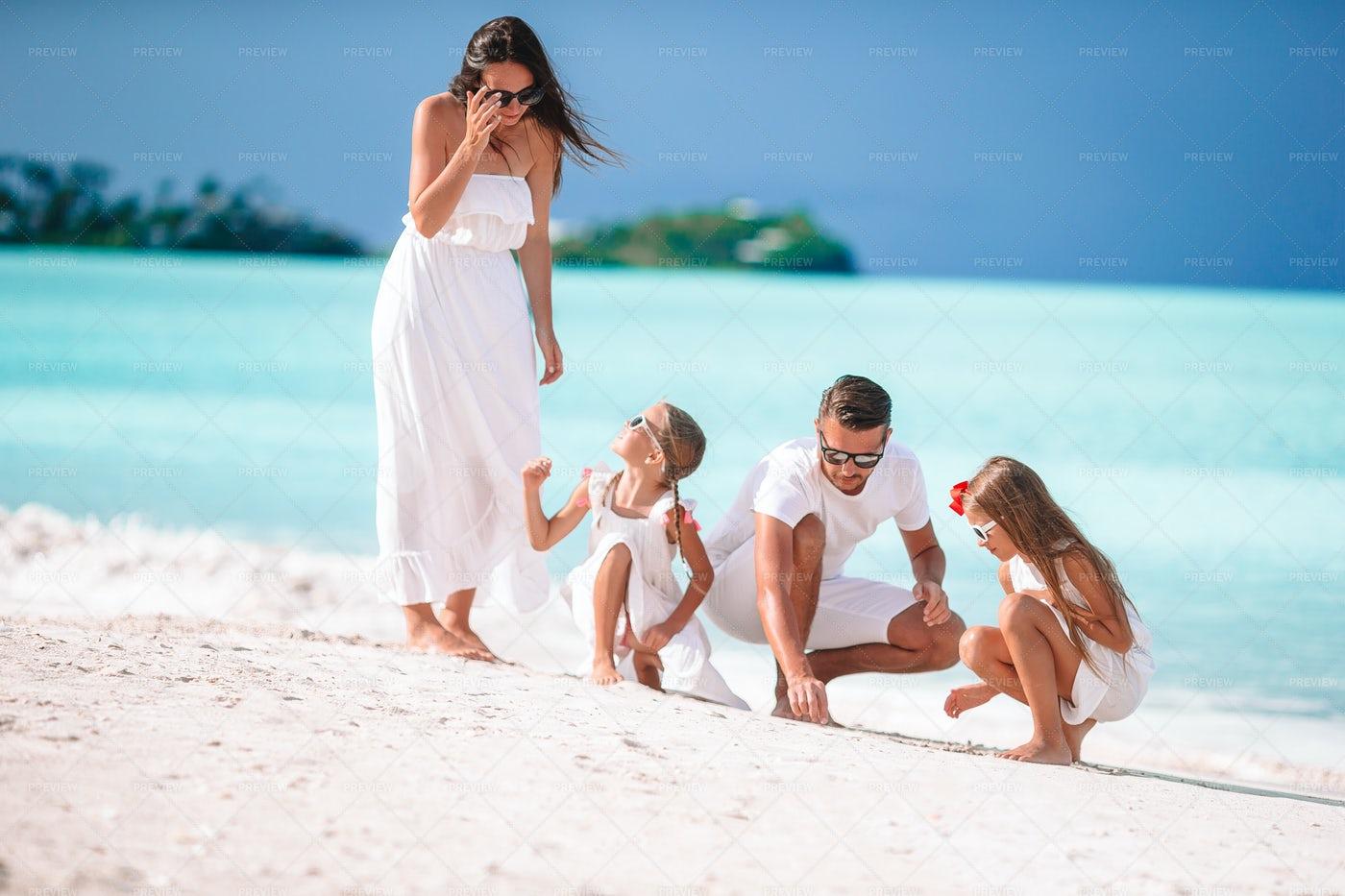 Happy Beautiful Family: Stock Photos