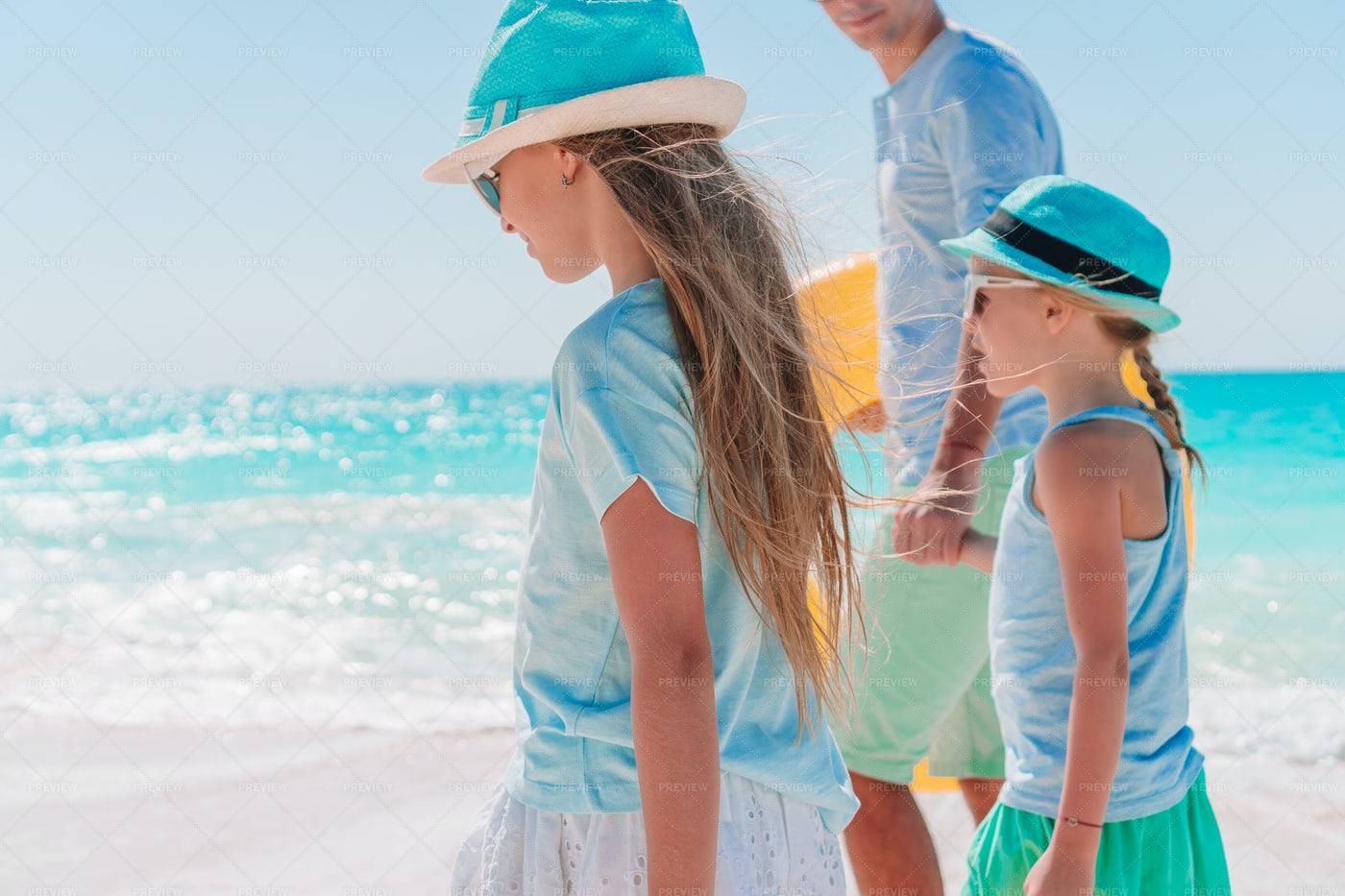 Father And Kids Enjoying Vacations: Stock Photos