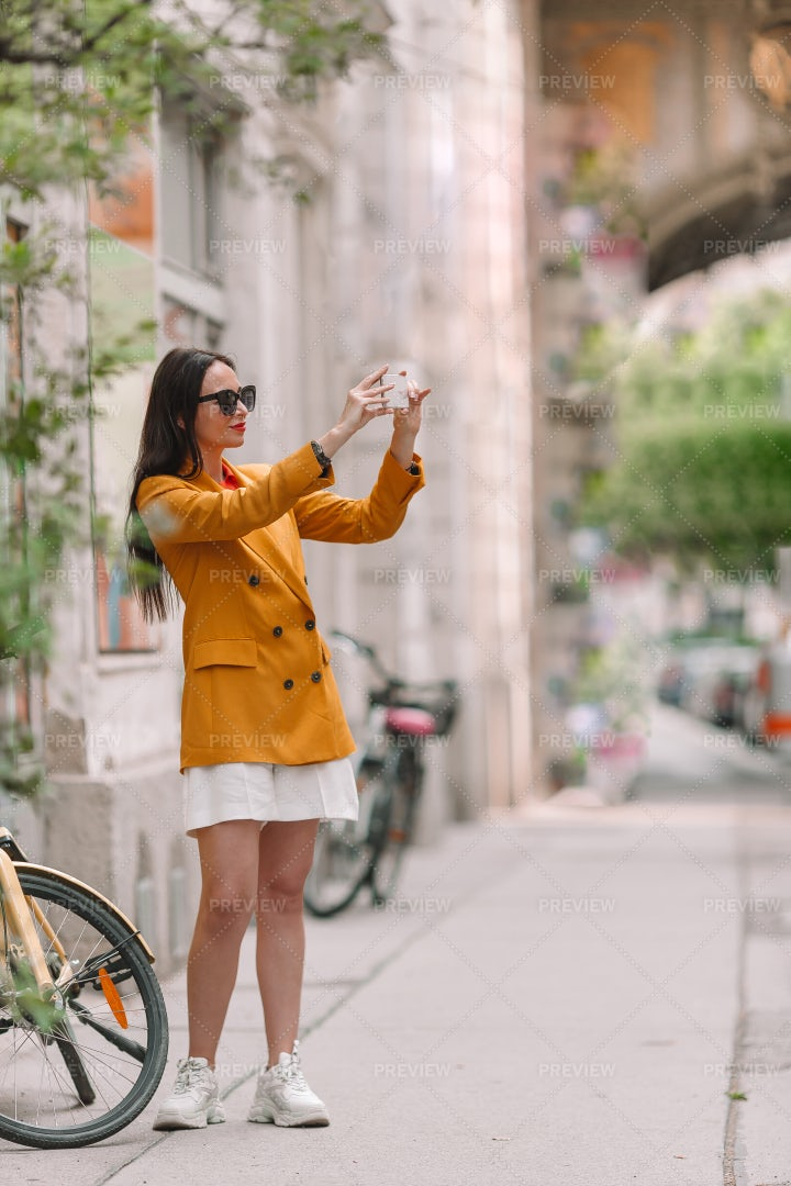 Taking Pictures In The City: Stock Photos
