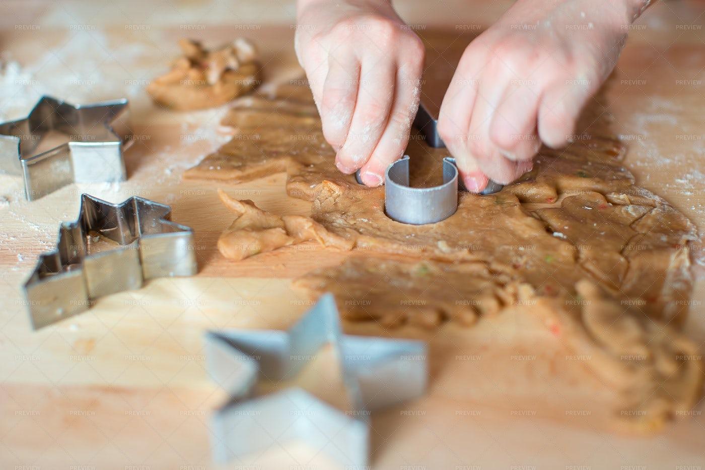 Closeup Dough For Gingerbread Cookies: Stock Photos