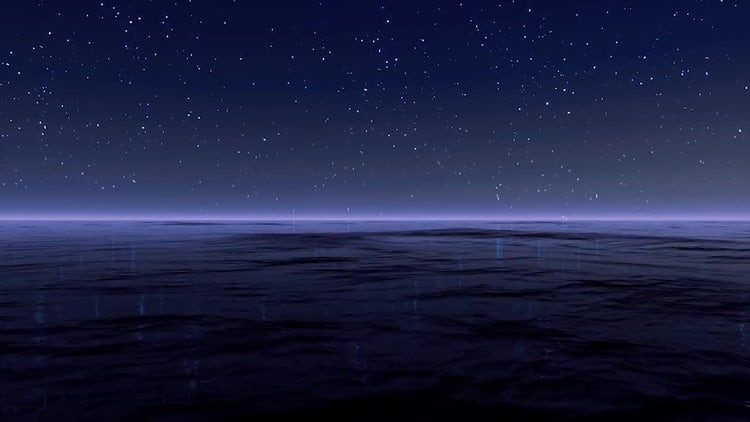 Starry Night At Sea: Motion Graphics