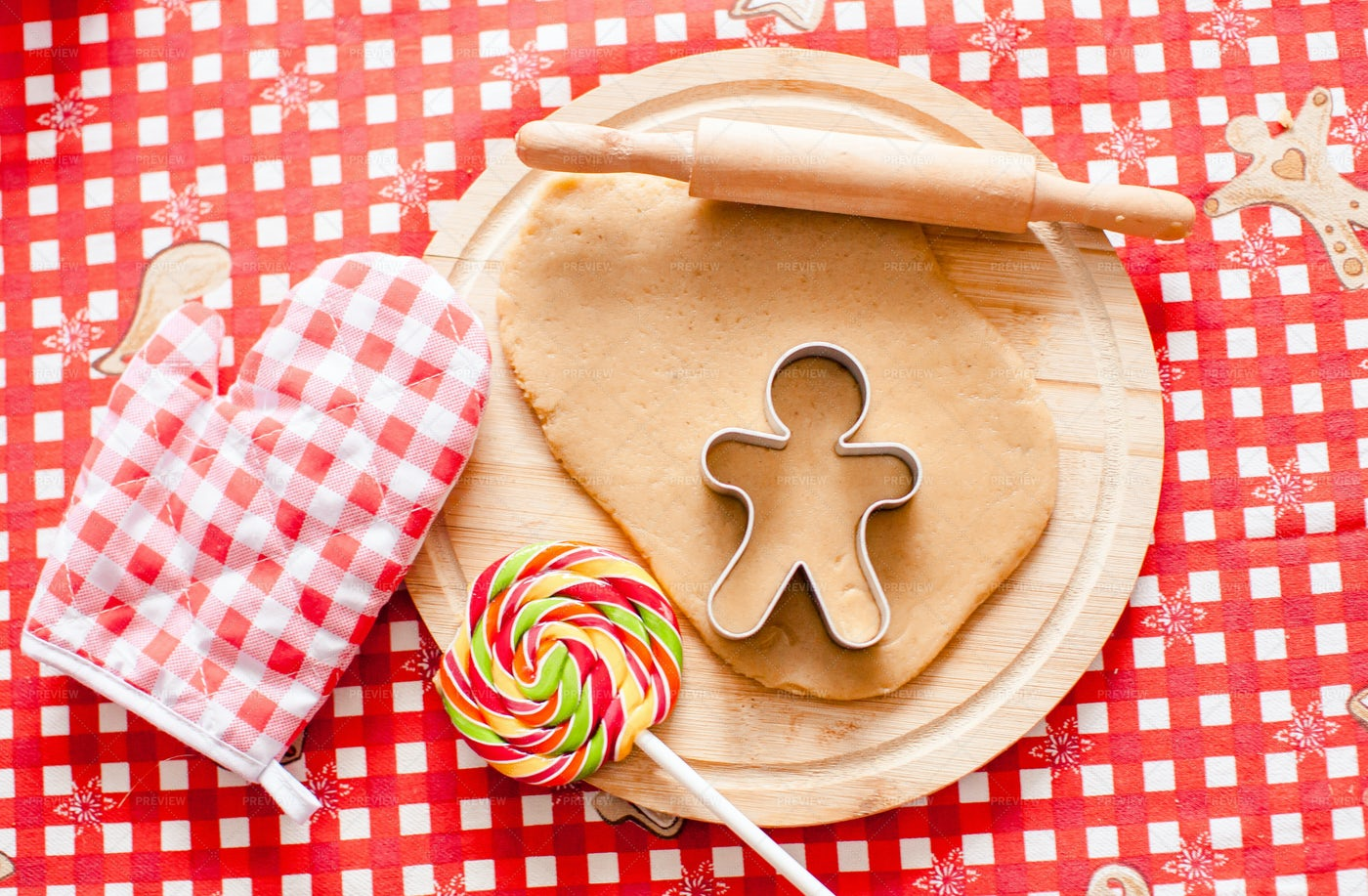 Gingerbread Ingredients: Stock Photos