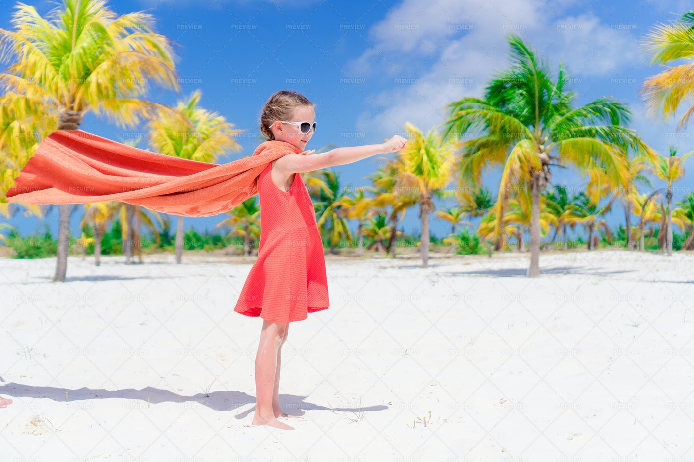 Girl Playing Superhero: Stock Photos