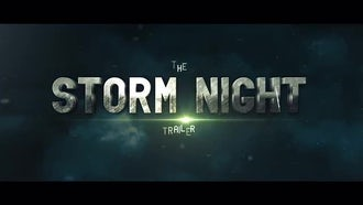 The Storm Night Title Trailer: After Effects Templates