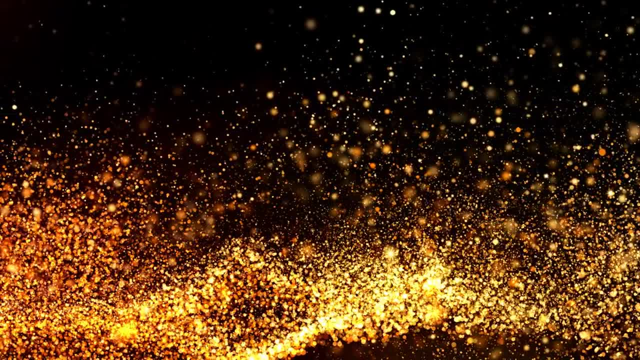 golden particles background stock motion graphics