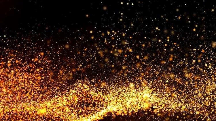 Golden Particles Background: Motion Graphics
