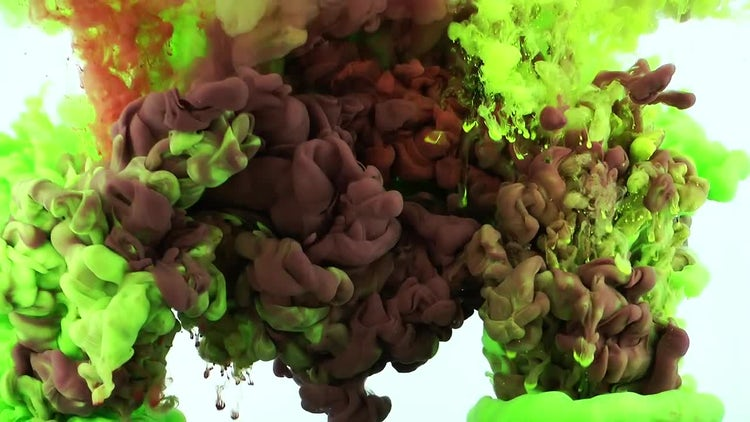 Abstract Ink Green and Brown: Stock Video