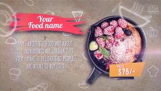 Restaurant Recipe Display: After Effects Templates