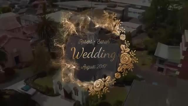 Golden Wedding Titles: After Effects Templates